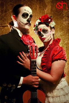Travis Treviño and Brooke May plan to marry during a ceremony Sunday, Dia de los Muertos. In the tradition that celebrates the memory of dead ancestors whose souls are believed to visit the living once a year, the couple is setting up an altar for guests to place photos of deceased loved ones so they are included in the wedding ceremony.