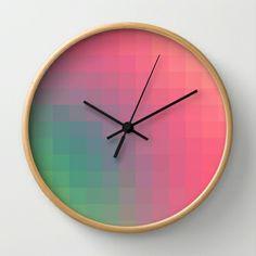 Bright Color Trend Wall Clock by Danny Ivan - $30.00