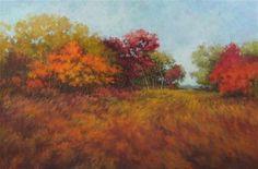 "Daily Paintworks - ""Wind In The Grassland"" - Original Fine Art for Sale - © Suzanne Poursine-Massion"