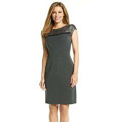 Nine West® Lace Yoke Sheath Dress at www.younkers.com