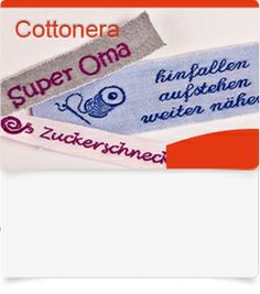 Cottonera Namensbänder, ab 50 Stück, 100% Baumwolle, variable Größe