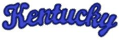 Kentucky Slightly Arched applique embroidery by PerfectPretties, $5.00