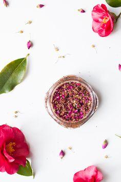 Make Your Own Flower Petal and Walnut Scrub