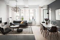 Dreamy, modern and a bit dark living & dinning area