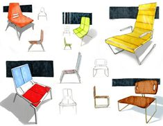 marker sketches #id #sketch - chairs, furniture