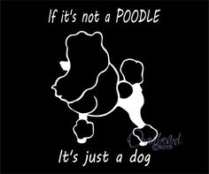 If its not A Poodle Its Just A Dog Decal Laptop Window Wall Car Vinyl Sticker via Etsy