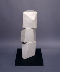 Barbara Hepworth Small One, Two, Three (Vertical), White marble, 1975