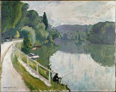 AlbertMarquet (Fr. 1875-1947),Bords de rivière,1913,huile sur toile, 46 x 81cm,Paris, musée national d'Art moderne - Centre Georges Pompidou