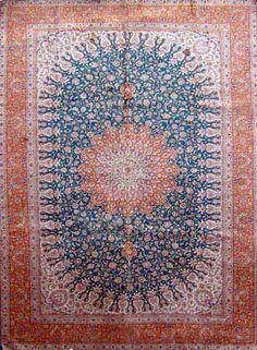 Ghom Seide Mermedhi 153 x 100 cm signiert Jeganeh