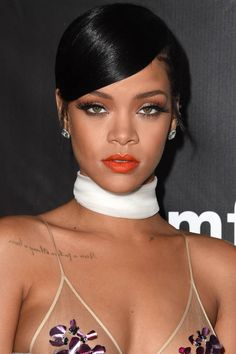 How to the perfect orange lip as seen on Rihanna: