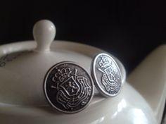 Queen Crest Earrings by IrisJane on Etsy, $4.50