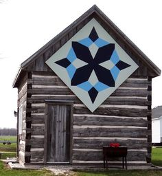A quilt pattern as barn art by Linda McAlpine