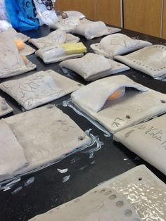 Art at Becker Middle School: Clay wall pockets