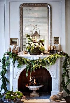 Holiday Calm | FleaingFrance Brocante Society urn in  fireplace