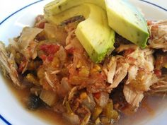 PaleOMG! Slow Cooker Green Chile Chicken
