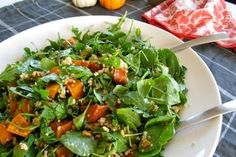 Roasted Pumpkin Salad with Pine Nuts and Feta