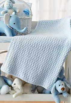 Ravelry: Bundle in Blue Blanket pattern by Patons