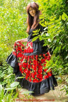 Poppy Gypsy Peasant Skirt Bohemian Alternative by RagsForGypsies