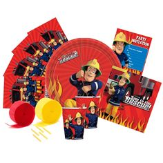 Fireman Sam Party Supplies - Partyware - This Party Started