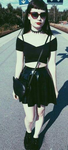 Cute summer goth outfit