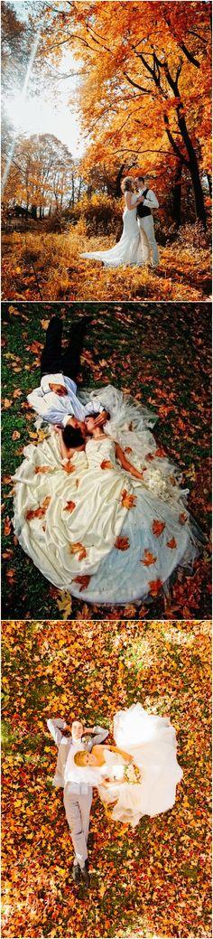 Fall wedding photo ideas #fallwedding #weddingphotos #fall #autumn / http://www.deerpearlflowers.com/fall-wedding-ideas-for-2017/