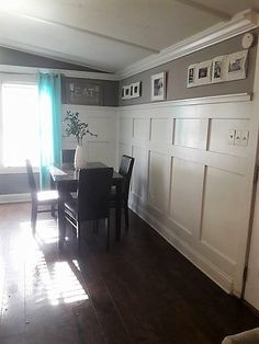 Home Remodeling gorgeous mobile home interiors - 1991 single wide-dining area Mobile Home Redo, Mobile Home Repair, Mobile Home Makeovers, Mobile Home Living, Mobile Home Decorating, Home And Living, Living Room, Home Upgrades, Mobile Home Renovations