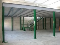 green and gray mezzanine