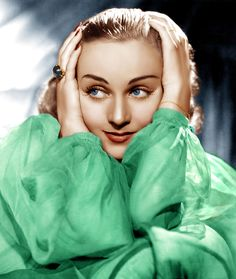 "#Carole Lombard ~ 1908-1942 /33 yo. As she was flying back from a War Bond Tour of Indiana, her plane crashed outside of Las Vegas killing her, her mother, & 20 other people. Her first sound film was ""High Voltage"" (1929). Starred in ""My Man Godfrey"" (1936) opposite William Powell whom she married in 1931, (Divorced 1933). Married Clark Gable in 1939 until her death. Her film ""To Be or Not to Be"" (1942) was in post-production when she died."