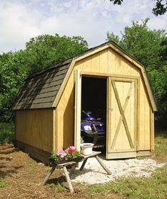 backyard big shed plans #diy--like this w/a covered area added on for firewood