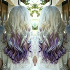 Blonde with purple Balayage