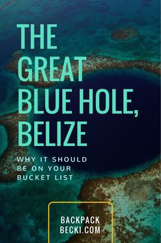 The Great Blue Hole, Belize and why dive great blue hole should be on your bucket list
