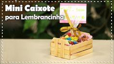 MINI CAIXOTE COM PALITOS     DIY  -  Dica de Arte