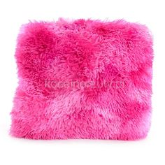 Dekoracyjna włochata poszewka w kolorze różowe ombre