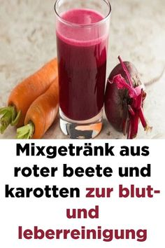 Mixed drink from beetroot and carrots for blood and liver cleansing - Mixgetränk aus Roter Beete und Karotten zur Blut- und Leberreinigung Mix of red beets and carrots for blood and liver cleansing - Calendula Benefits, Lemon Benefits, Coconut Health Benefits, Healthy Oils, Health And Nutrition, Health And Wellness, Healthy Recipes, Health Cleanse, Health Trends