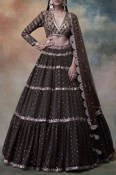 Buy Embroidered Lehenga Set by Vvani by Vani Vats at Aza FashionsYou can find indian fashion and more on our website.Buy Embroidered Lehenga Set by Vvani by Vani V. Designer Bridal Lehenga, Bridal Lehenga Choli, Indian Lehenga, Wedding Lehnga, Punjabi Wedding, Wedding Dresses, Indian Wedding Outfits, Bridal Outfits, Indian Outfits