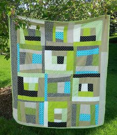 s.o.t.a.k handmade: improv block using stack and slash method {tutorial} SUPER easy way to make SIX quilt blocks at once