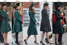 Duchess of Cambridge at St. Patrick's Day Parade for the Irish Guards l 2012, 2013, 2014, 2015 & 2017