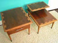 Lane Acclaim Tables Designed By Andre Bus, And Manufactured In The Early By  Lane Co. Of AltaVista, Virginia. The Unique Design Features An Oak And  Walnut ...
