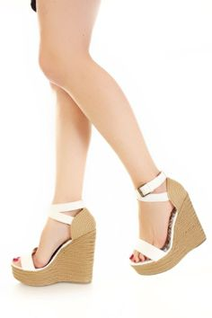 Cute summer wedges!  It would just be dern near impossible to walk to class around here with the hills ...
