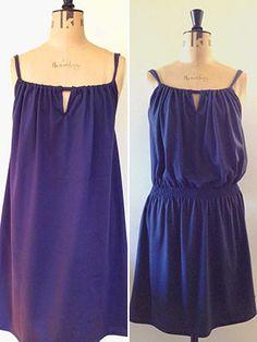 Coudre une robe d'été recueillies facile: patron de couture libre
