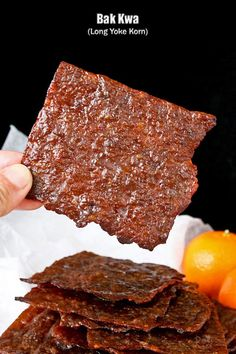 Bak Kwa is a popular snack and gift during the Chinese New Year. These barbecued wafer thin pieces of sweet and salty pork jerky are simply irresistible.   RotiNRice.com