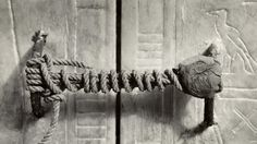 Unbroken seal of King Tut's tomb ~ Ancient Egypt version of a pad lock