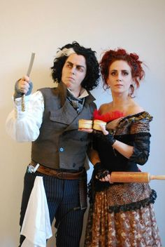 Sweeney Todd and mrs Lovett. Costumes made by Fairy-Tailor.
