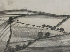 Ben Nicholson, 1920 Tippacott, pencil on paper, 23 x 31 cm, private collection.