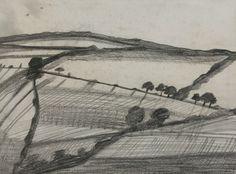 Ben Nicholson, 1920 Tippacott, pencil on paper, 23 x 31 cm, private collection.