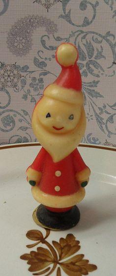 Vintage Christmas Candle ~ Gurley Skinny Santa