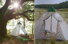 Pretty flowered tent.