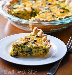 Flavor From Scratch: Zucchini, Corn & Spinach Quiche