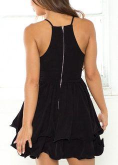 a2e46480f62 Sexy Deep V Neck Spaghetti Strap Mini Dress