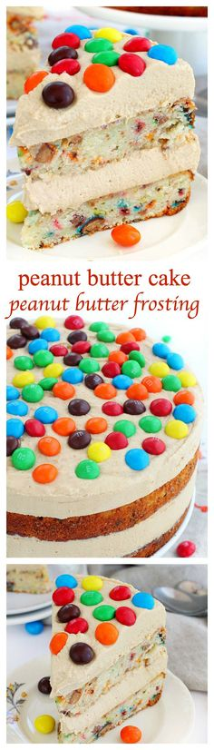 Peanut butter cake loaded with chopped Peanut Butter M&M's and a dreamy peanut butter frosting, Fun cake,worth a try?